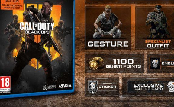 Black Ops 4 specialist bonus content AAA