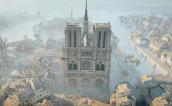 Notre Dame Assasins Creed Unity REAL FRONT