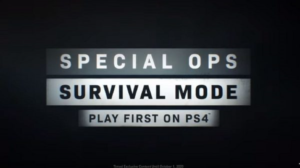Special Ops Survival Mode