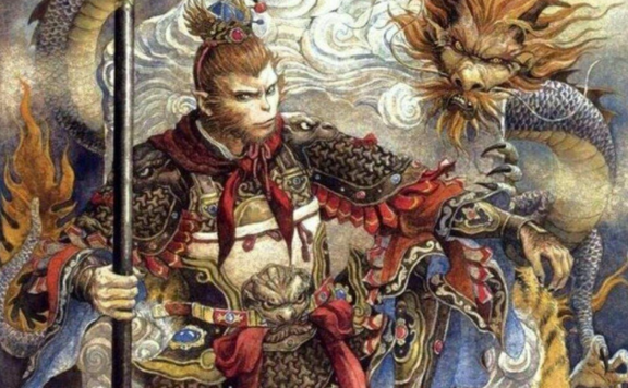 Sun Wukong and the dragon