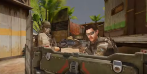 Call of Duty Mobile Shooter behind steelwall