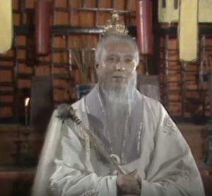 Sun Wukong Affenkonig sprickt mit dem Meister III