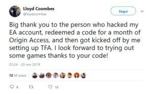 EA riscatto Messaggio V
