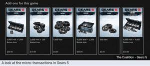 gears 5 malcontento utenti V