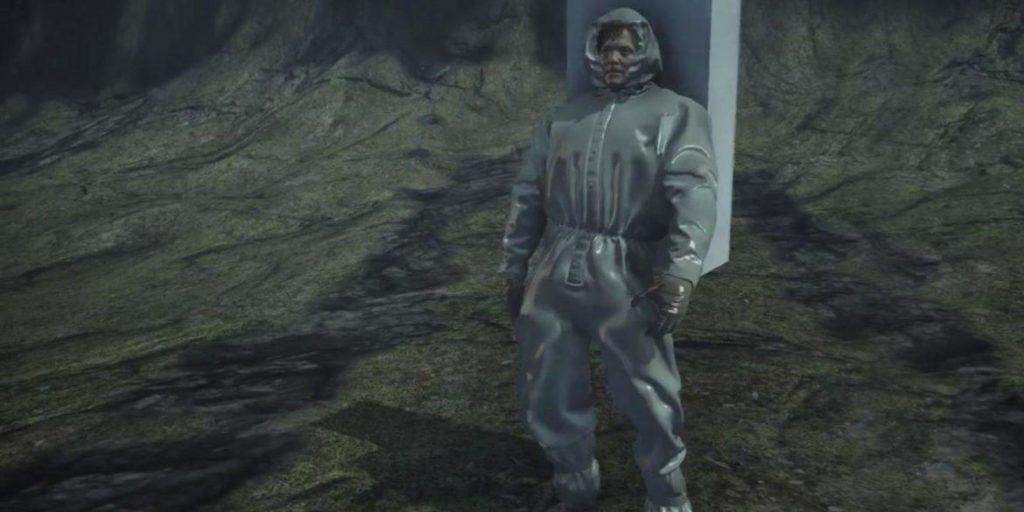 man standing parodia death stranding