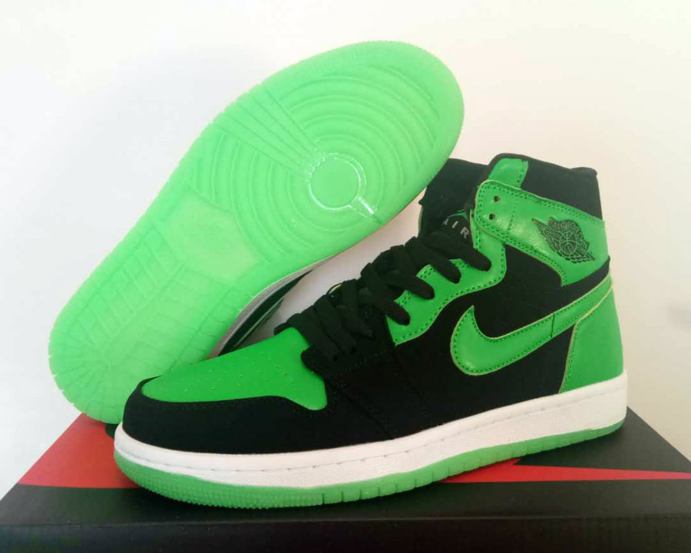 E3 2018 x Xbox x Air Jordan 1 Black Green For Sale