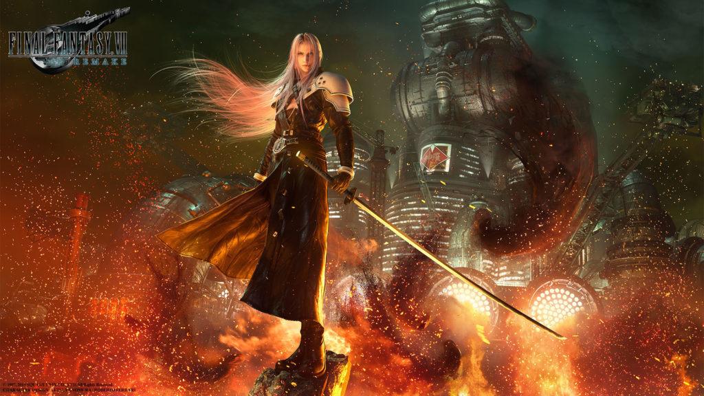 Sephiroth in tutto il suo inquietante splendore