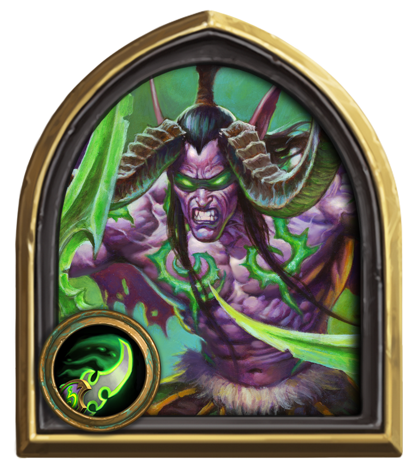 HS2020 HeroFrame Illidan with Class Icon