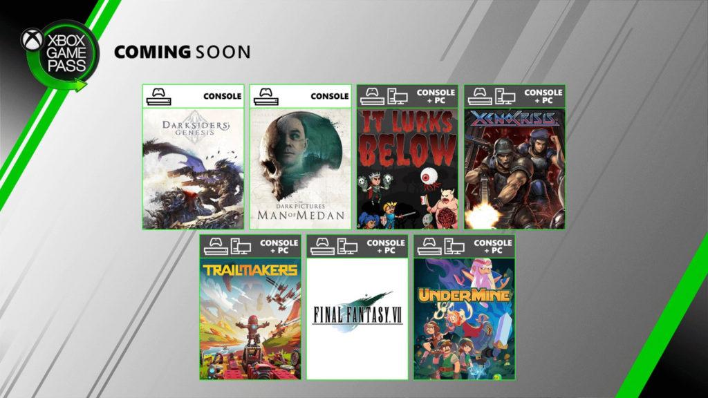 Xbox Game Pass Agosto