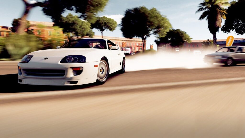 videogiochi e psicologia, l'immagine rappresenta un'auto in corsa