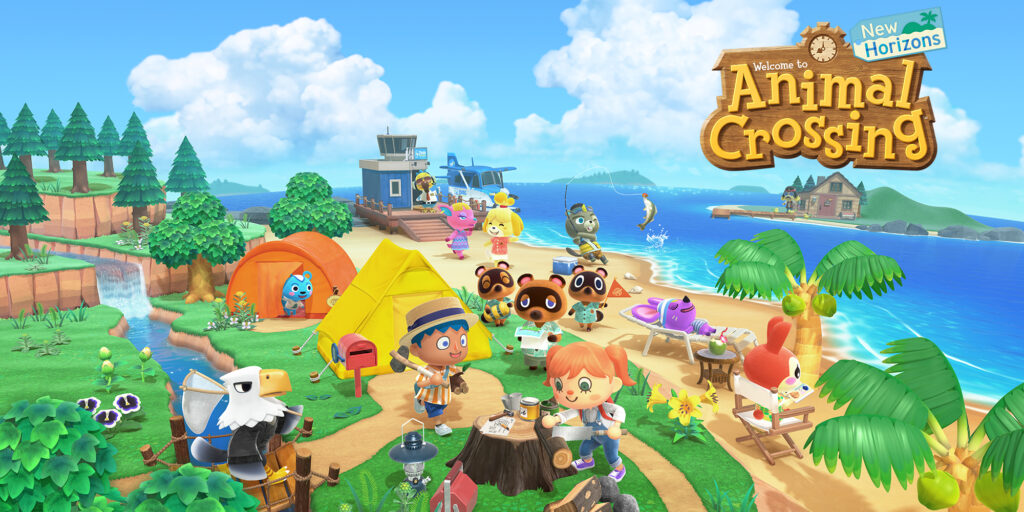 nintendo switch con animal crossing
