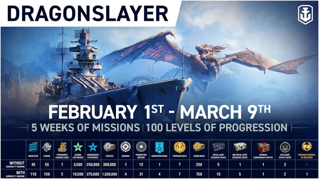 World of Warships: Legends dragon slayer