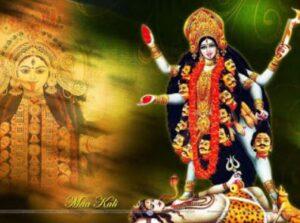 Maha Kali walks over Shiva Thveir