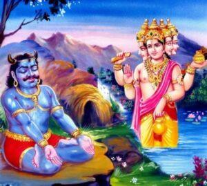 Mahahishasura and Durga
