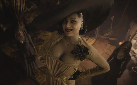 Lady Dimitrescu, primo piano dall'alto