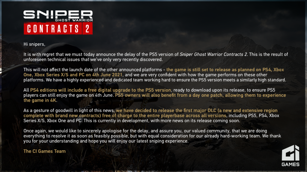 Sniper Ghost Warrior Conctracts 2