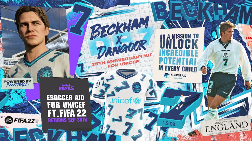 Twitch Rivals : eSoccer Aid for UNICEF con FIFA 22